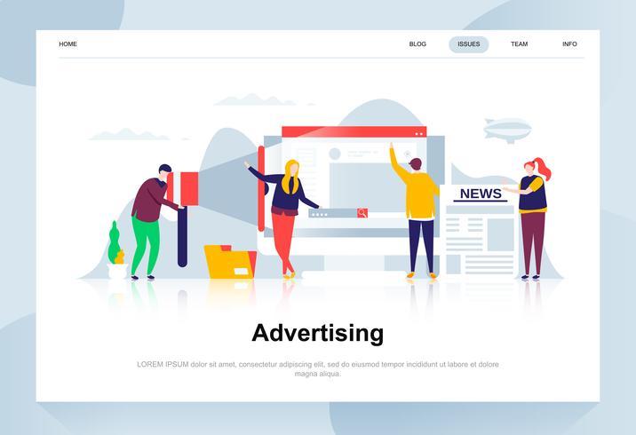 Banner Web Design piatto pubblicitario e promozionale