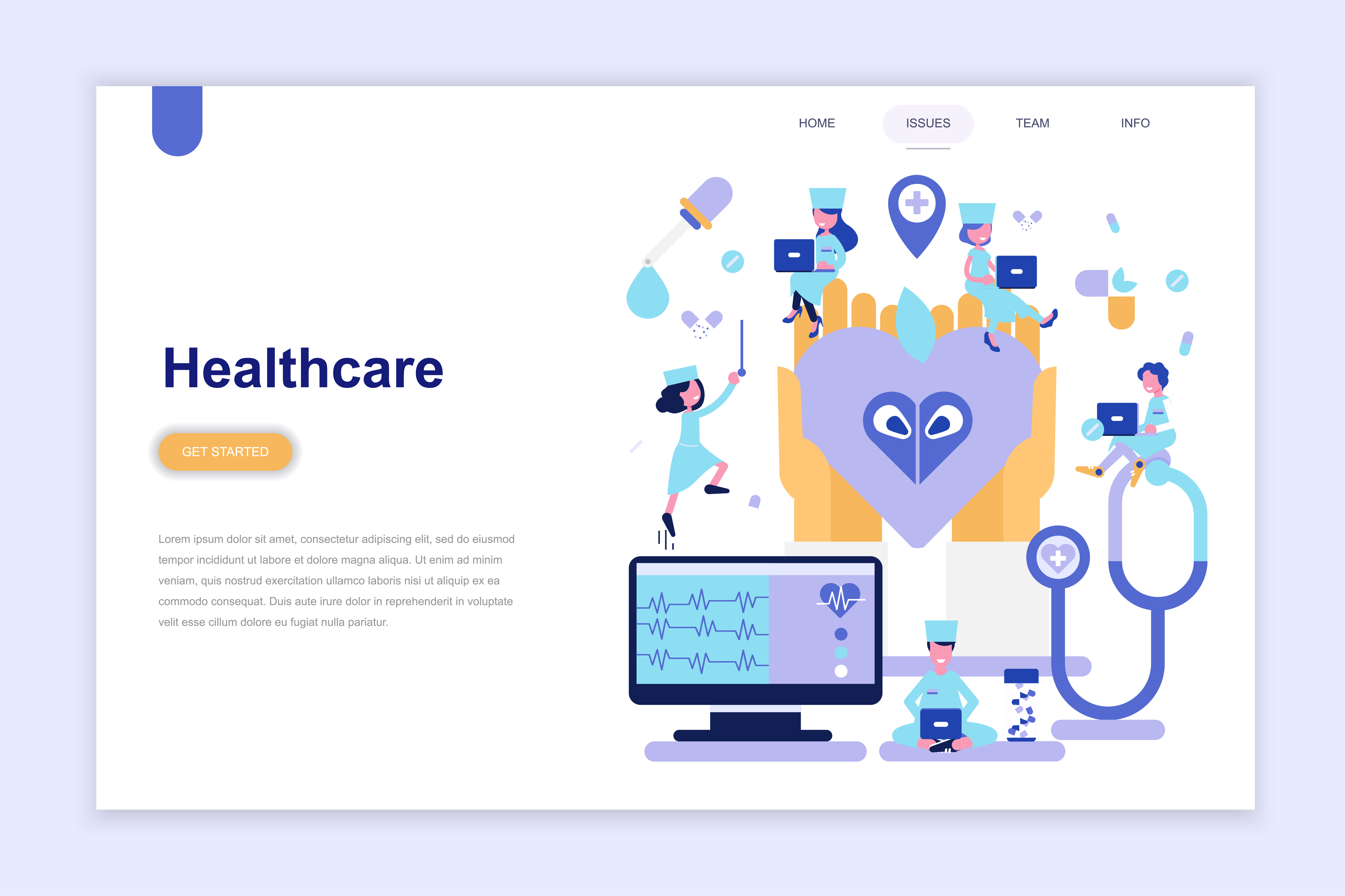Landing Page Template Of Medicine And Healthcare Download Free Vectors Clipart Graphics