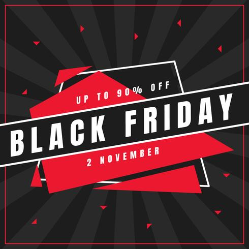 Vettori di post su social media unici Black Friday