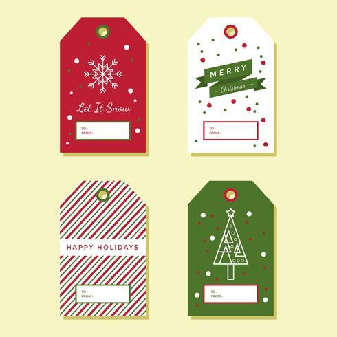 Holiday Gift Tags Vector