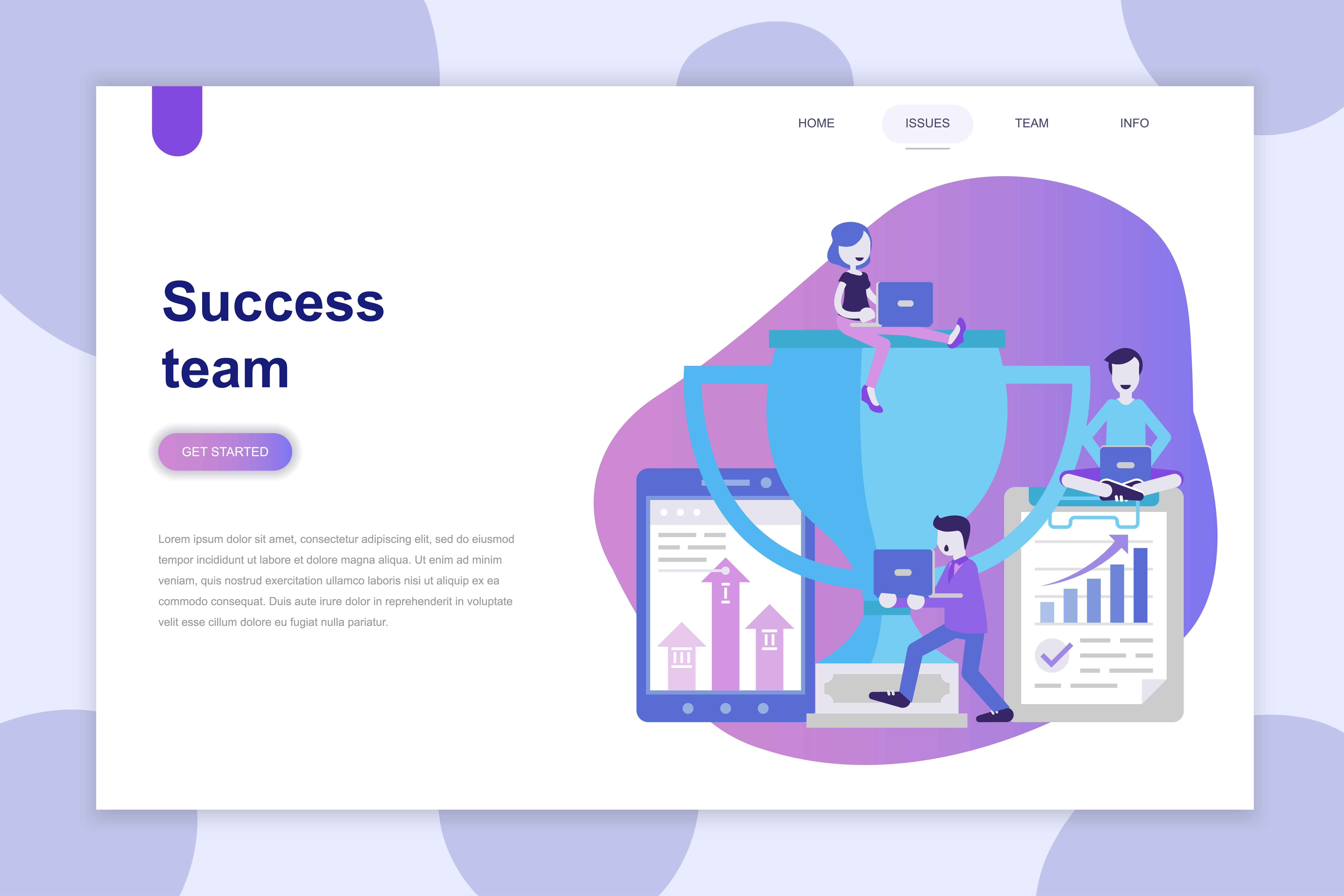 Modern Flat Design Concept Of Success Team Download Free