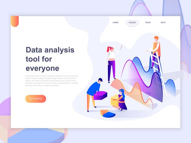 Landing page template of data analysis