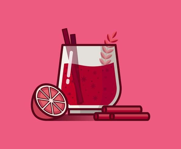 Ilustración de vino caliente vector