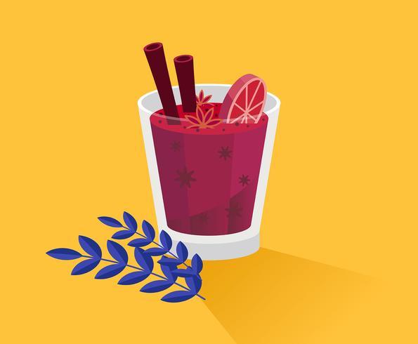 Ilustración de vino caliente