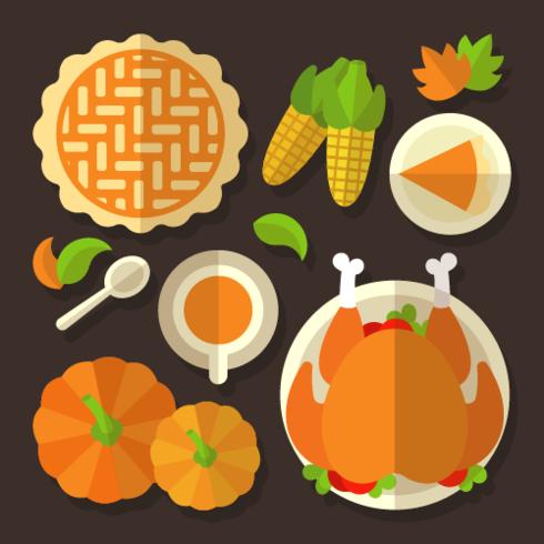 Vecteur aérien de table de Thanksgiving