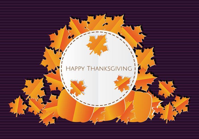 Papercraft sfondo di ringraziamento