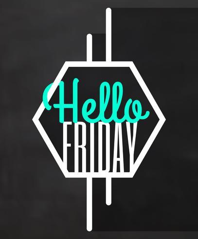 Bonjour vendredi