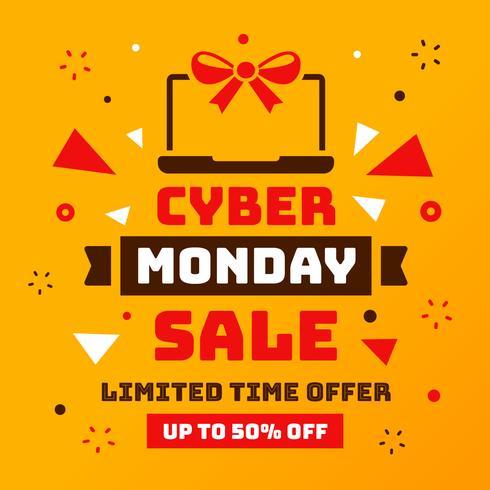 vettore di vendita di cyber lunedì