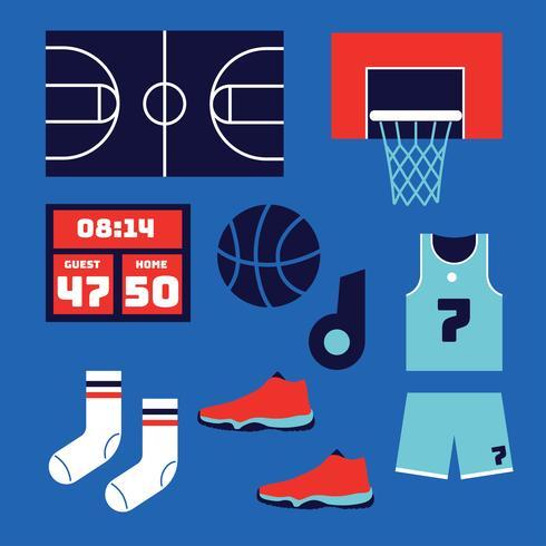 éléments de basket-ball vector pack