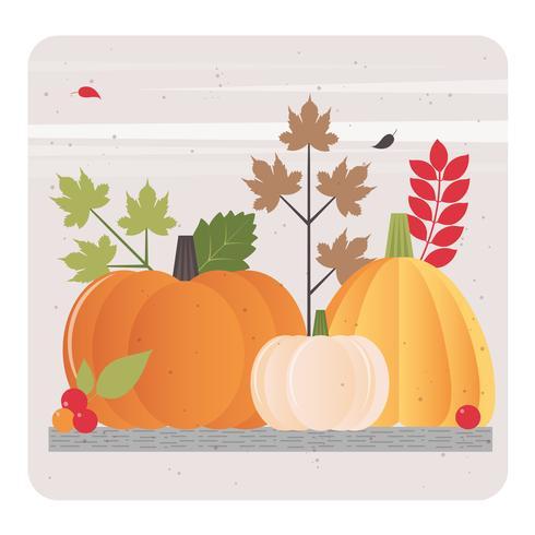 disegno vettoriale cartolina d'auguri di autunno