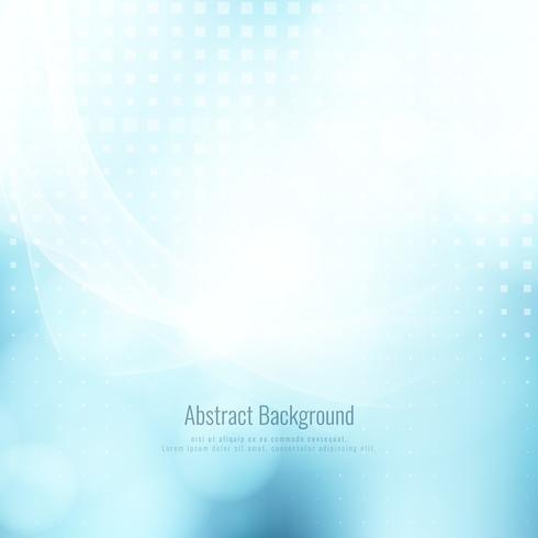 Abstrait moderne vague bleue élégante