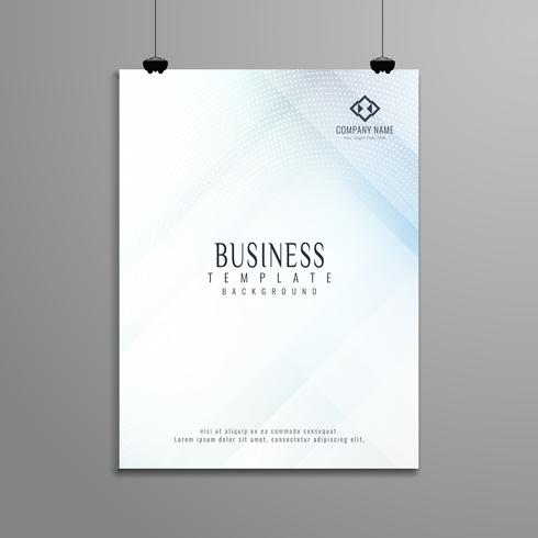 Abstract elegant geometric business brochure template design