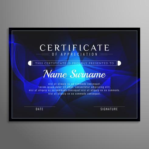 Abstrait certificat design élégant