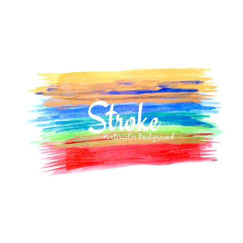 Abstrakt vattenfärg stroke design bakgrund