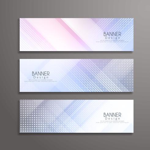 Modèle de conception des bannières géométriques élégantes abstraites