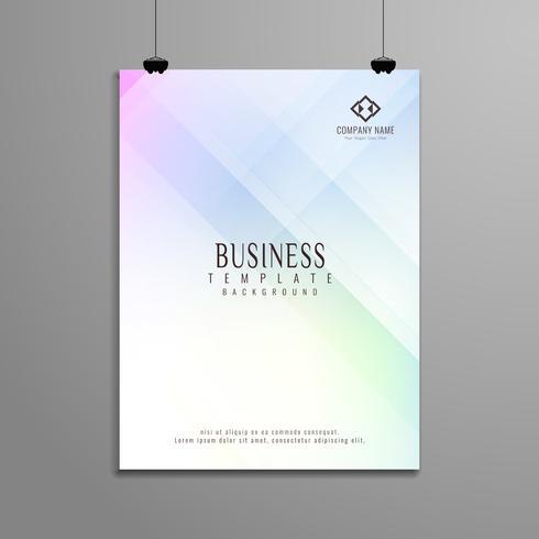 Design de modelo de folheto de negócio geométrico elegante abstrata