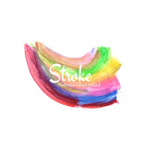 Abstrakt färgrik dekorativ vattenfärgstreck design bakgrund
