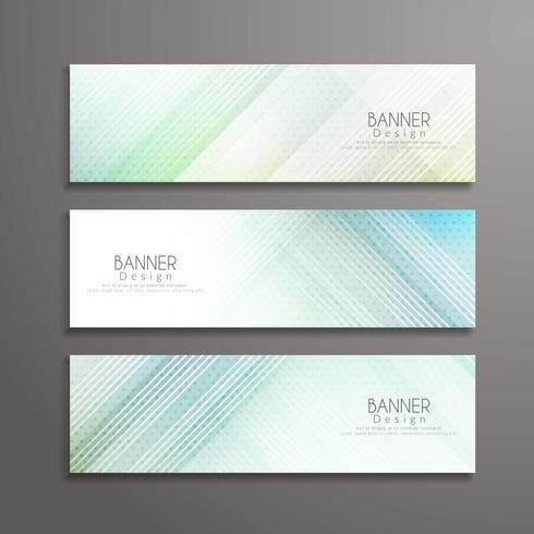 Modello di progettazione di banner elegante geometrico moderno astratto