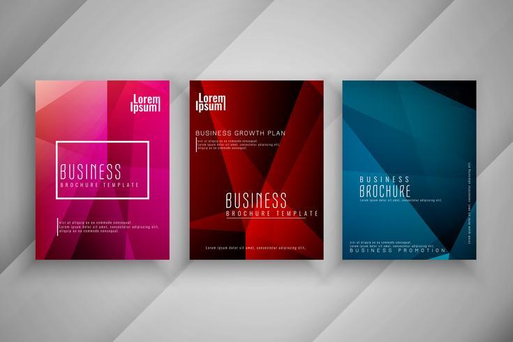 Abstracte moderne kleurrijke zakelijke brochure sjabloon set