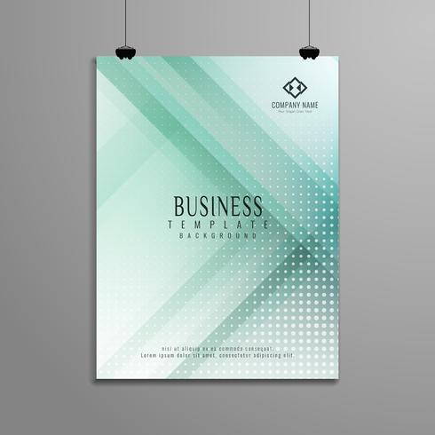 Abstrakt geometrisk affärs broschyr mall design