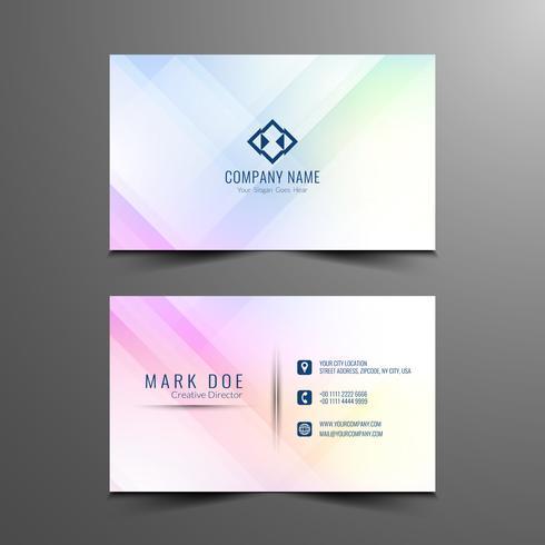 Plantilla de diseño de tarjeta de visita abstracta