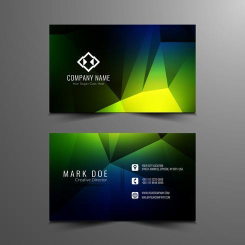 Abstract modern geometric business card template design