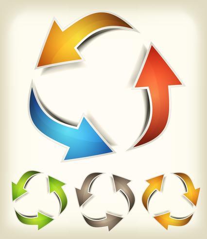 Vintage Recycle Arrows vector