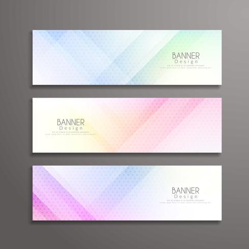 Plantilla de diseño de banners elegante geométrico moderno abstracto