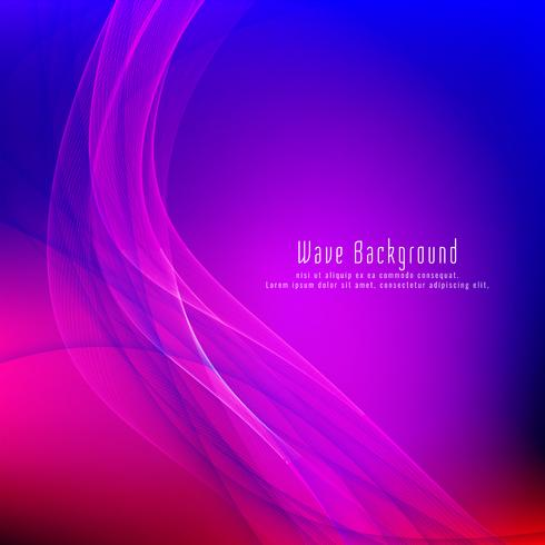 Fondo elegante abstracto de la púrpura del diseño de la onda