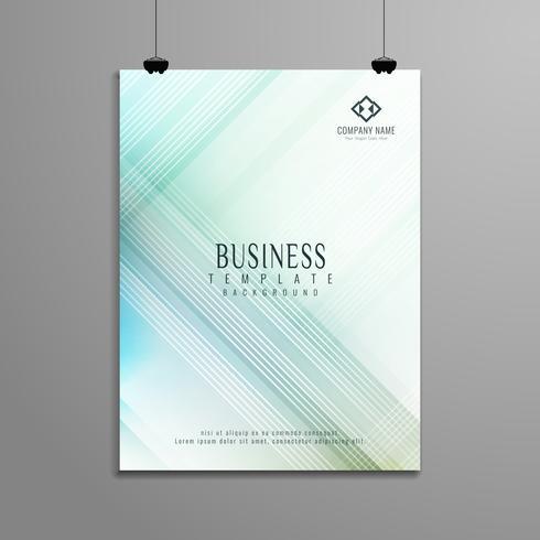 Design de modèle de brochure abstrait business géométrique élégante
