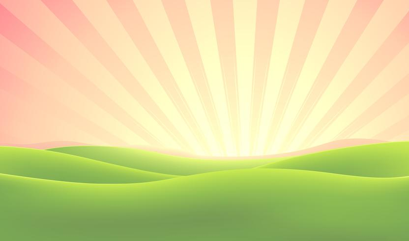 Summer Nature Sunrise Background