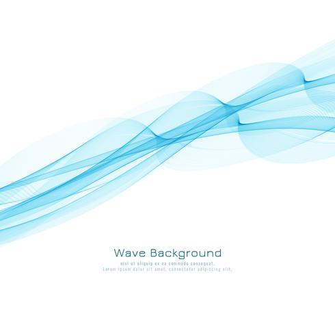 Abstrakt elegant blå våg stilig bakgrundsdesign