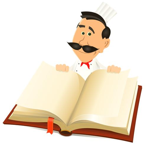 Chef Cook Holding Recept Book