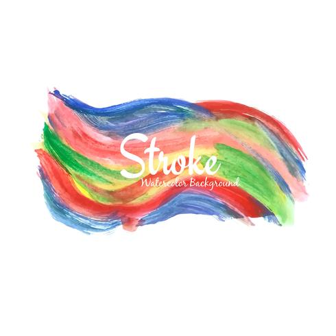 Abstract colorful decorative watercolor stroke design background