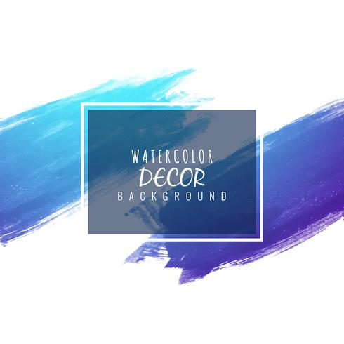 Abstrakt modern glänsande blå akvarell bakgrund