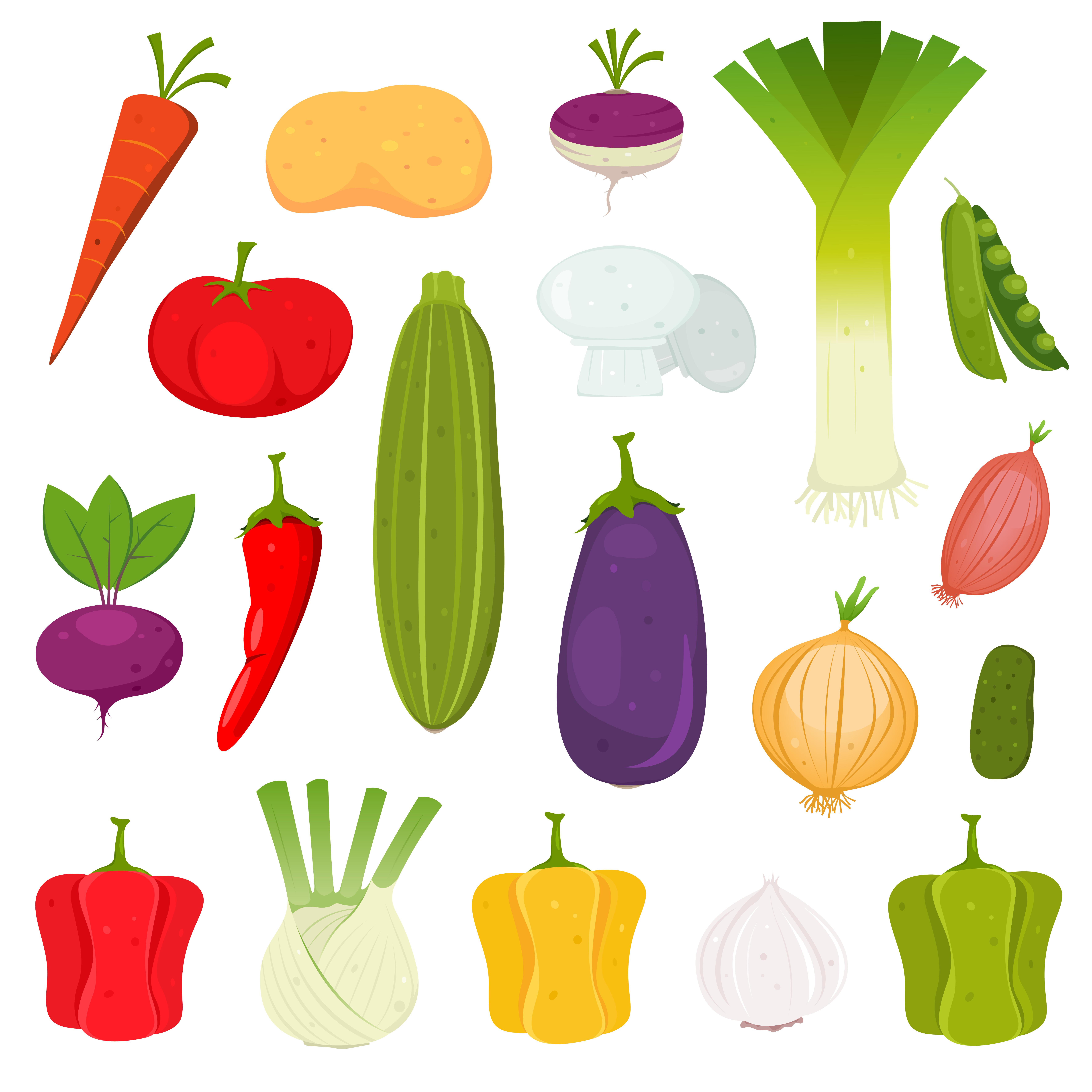Vegetables Icons Set - Download Free Vectors, Clipart ...