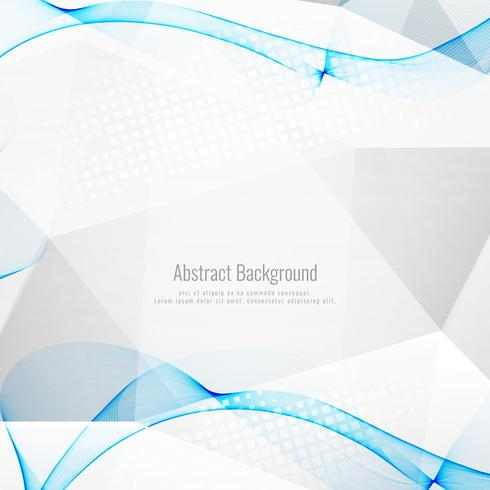 Abstract grey polygonal background with blue waves vector