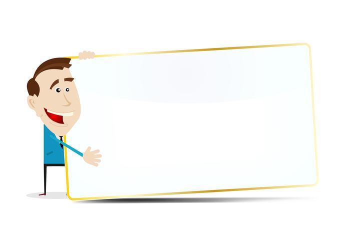 Signo de empresario de dibujos animados