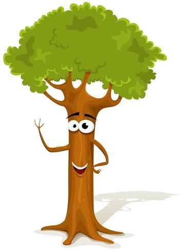 Cartoon voorjaar boomkarakter