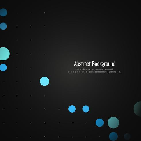 Fondo oscuro de puntos coloridos abstractos vector
