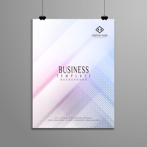 Progettazione elegante del modello dell'opuscolo geometrico astratto di affari