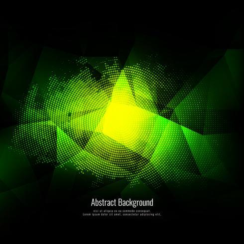 Abstracte moderne groene veelhoekachtergrond met halftone