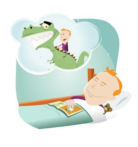 Tecknade barn drömmer