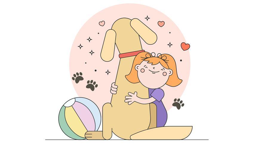 Amor mi perro vector