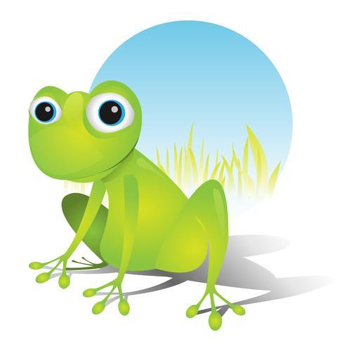 Einfacher süßer Frosch