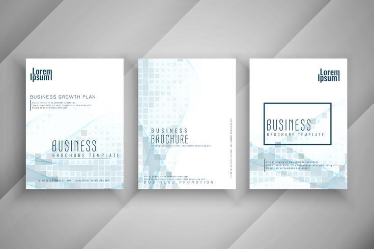 Abstrakt affärs broschyr mall design set