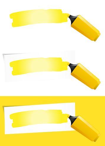 Caneta de feltro amarela