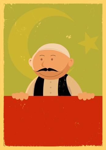 Bannière du cuisinier turc