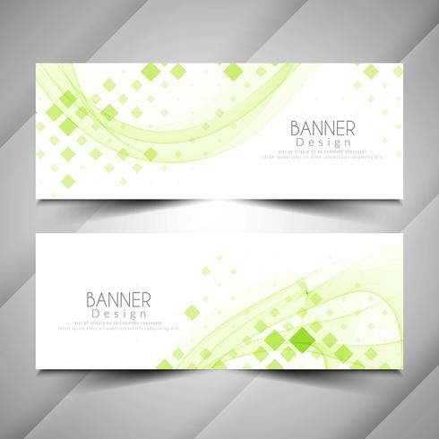 Abstrakt modern elegant banners design set
