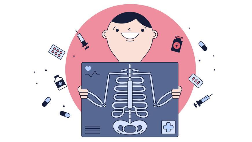 Röntgenstrahlen-Vektor